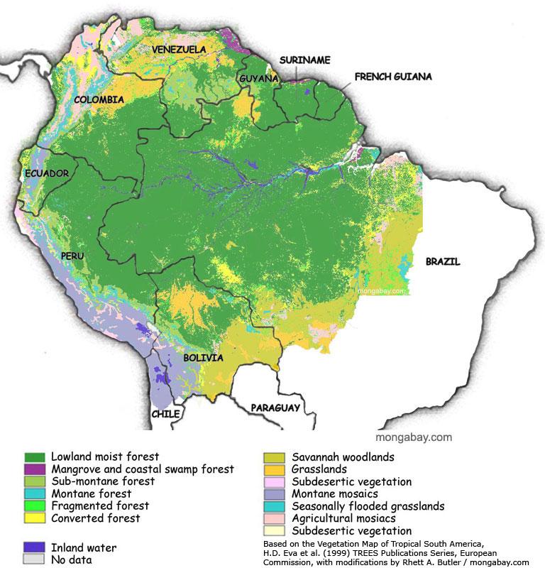 Países que partilham a Amazônia